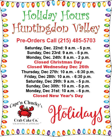 holiday hours 2018 huntingdon valley